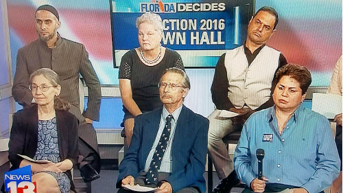 Vivian Rodriguez at Orlando Town Hall debate