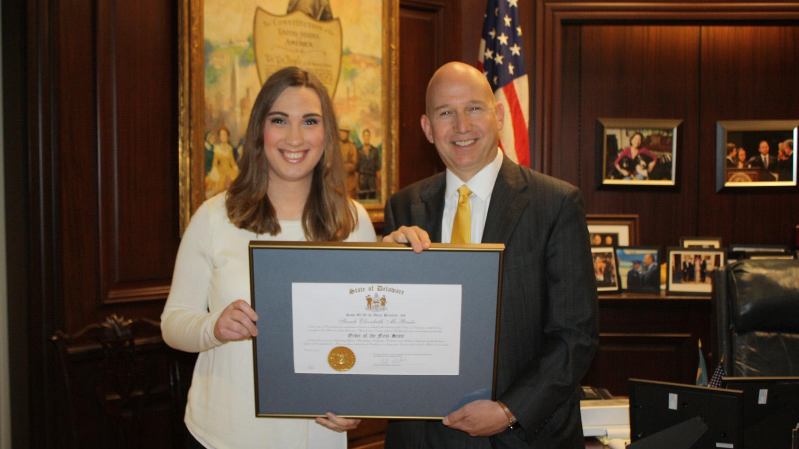 HRC's Sarah McBride Awarded Delaware's Highest Honor