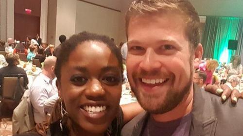 Equality NC's Crystal Richardson and HRC's Ryan Wilson
