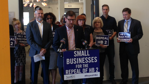 Matt Hirschy; Equality NC; TurnOut! North Carolina; Repeal HB2; Small Businesses