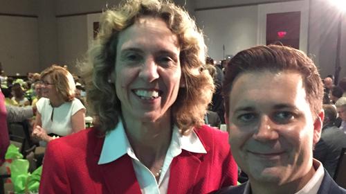 Mayor Jennifer Roberts and HRC Jeremy Carter
