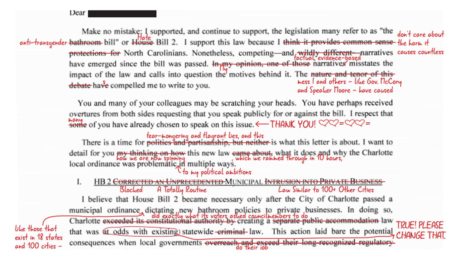 NC Senate President Berger Sends Misleading Letter to CEOs, Doubles Down on Anti-LGBT HB2