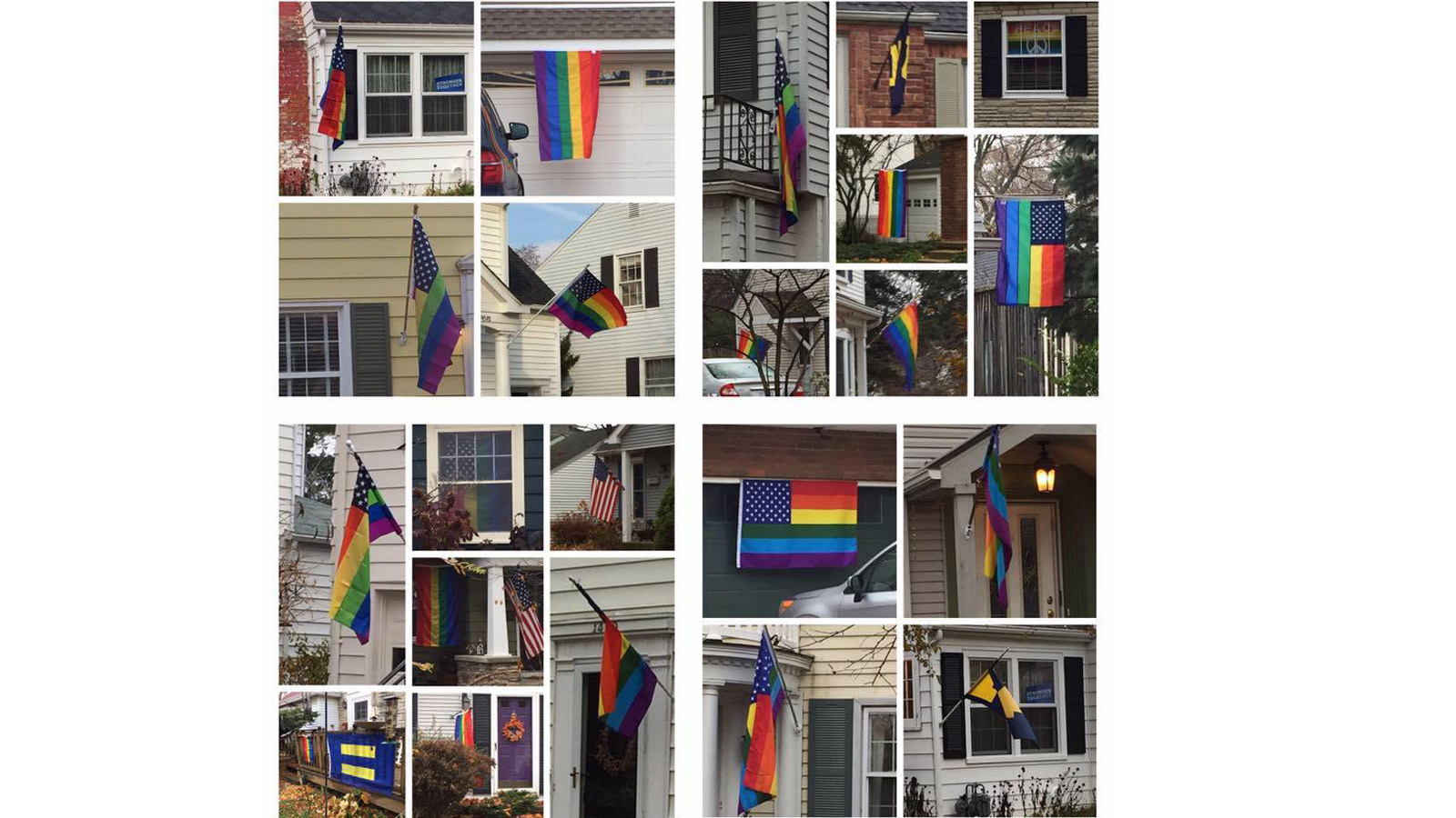 Love Will Always Trump Hate: HRC Flags Displayed as Part of Community's Pro-Equality Demonstration