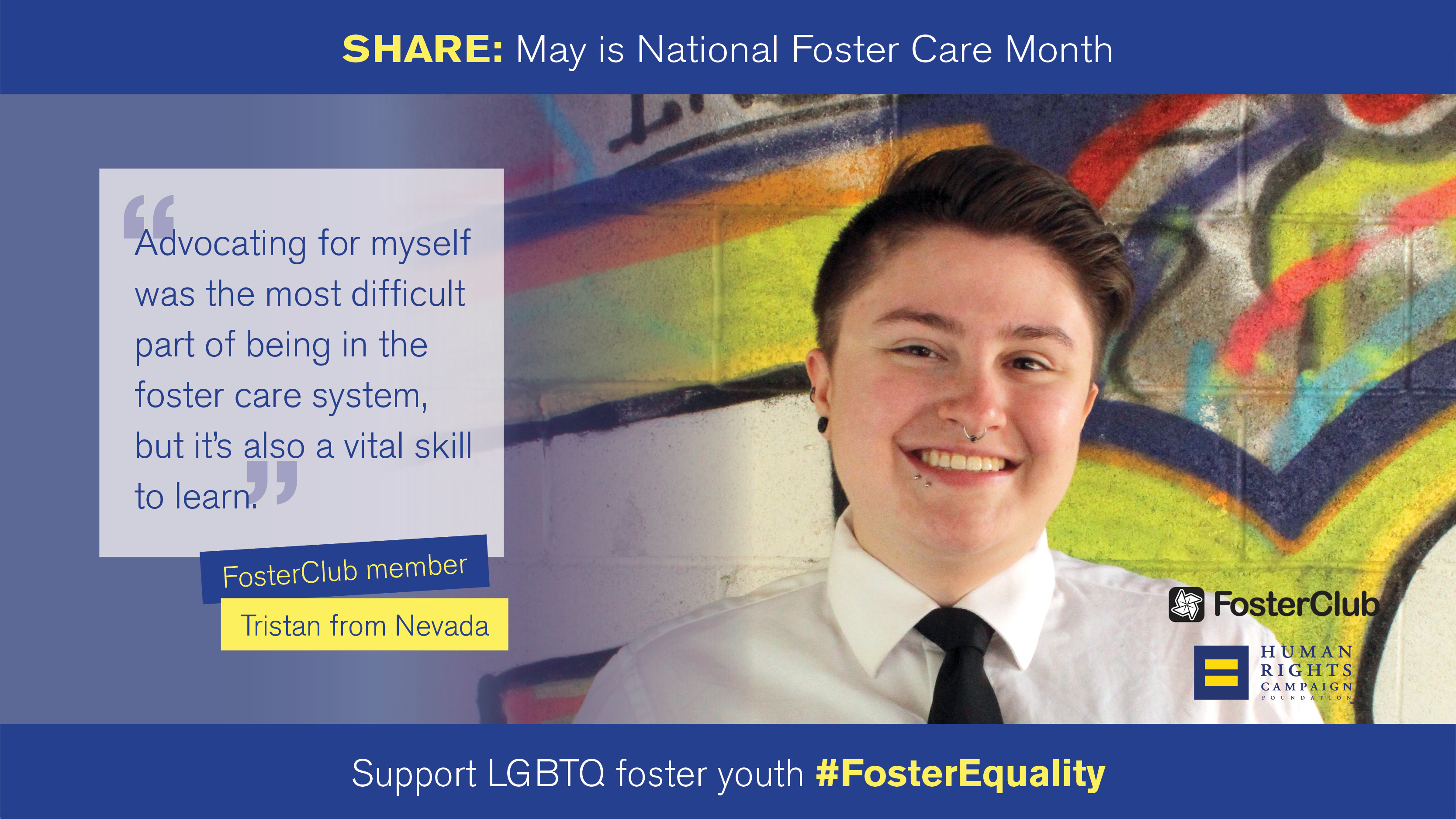 National Foster Care Month: Tristan's Story
