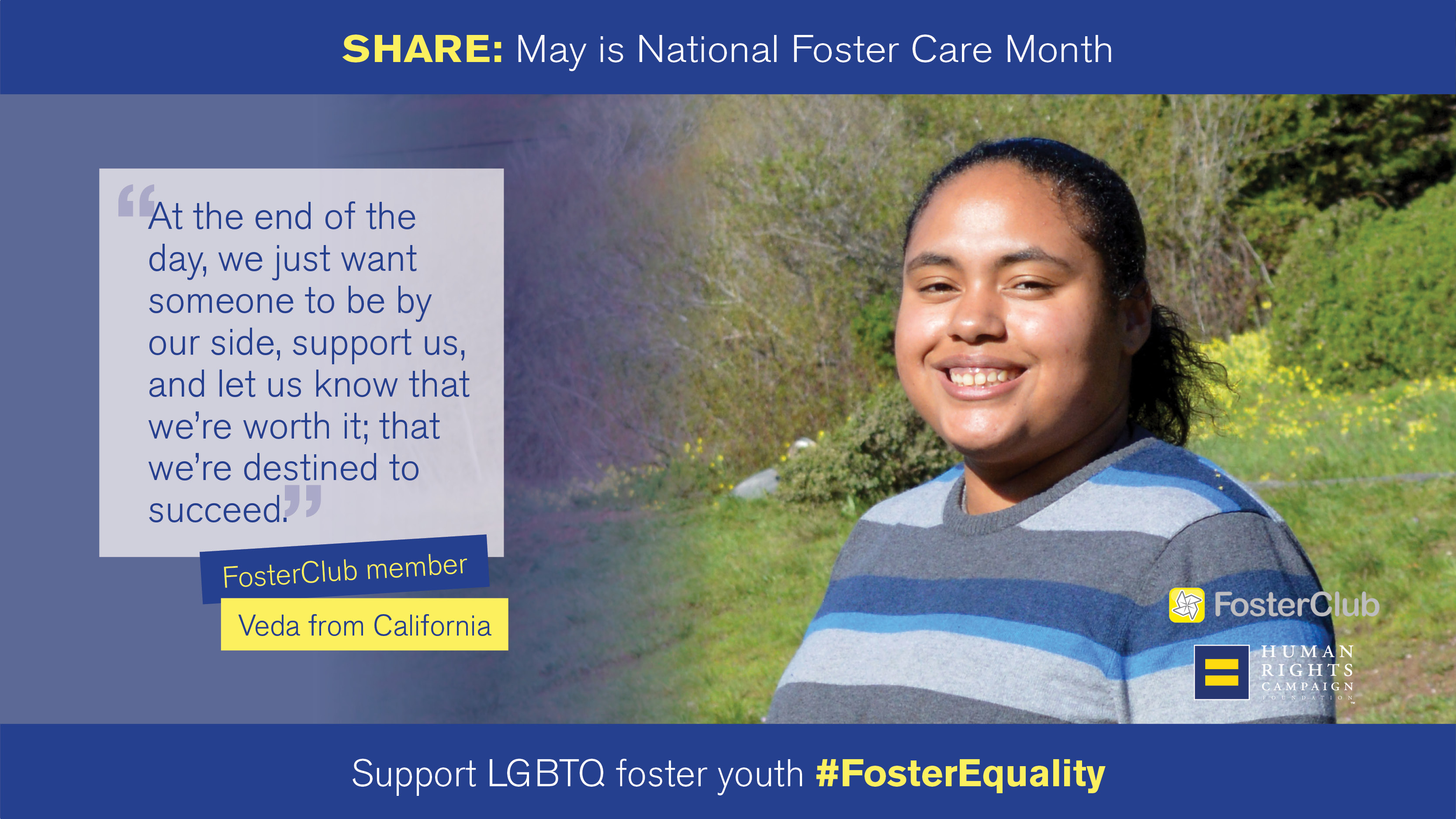 National Foster Care Month: Veda's Story