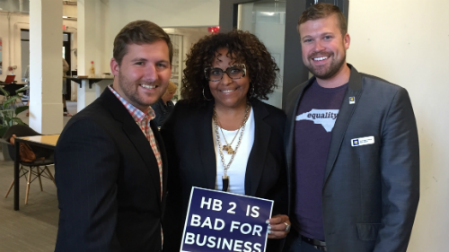 Matt Hirschy; Equality NC; Ryan Wilson; Veleria Levy; TurnOut! North Carolina; Repeal HB2; Small Businesses