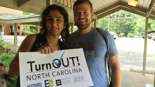 TurnOut North Carolina!; Charlotte; Weekend of Action; Repeal HB2; Lara Nazario; Ryan Wilson
