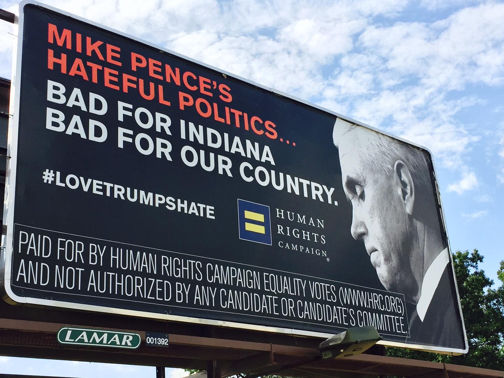 Mike Pence billboard