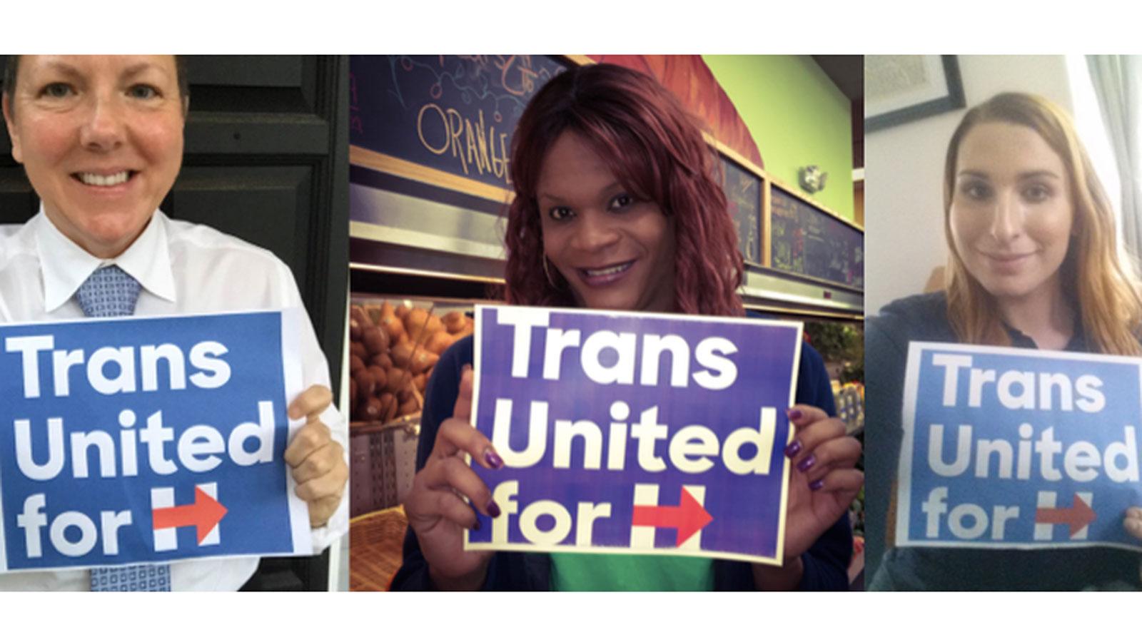Transgender community; HRC; Hillary Clinton