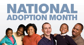National Adoption Month Families