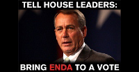Tell Boehner to let the House vote on ENDA.