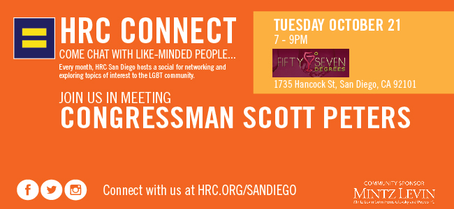 HRC CONNECT - Oct. 21 with Congressman Scott Peters