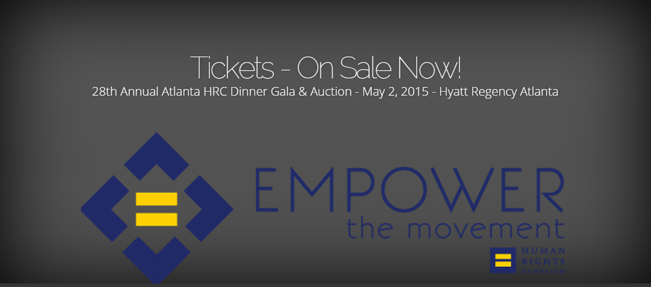 28th Annual Atlanta HRC Dinner Gala & Auction - May 2, 2015 - Hyatt Regency Atlanta