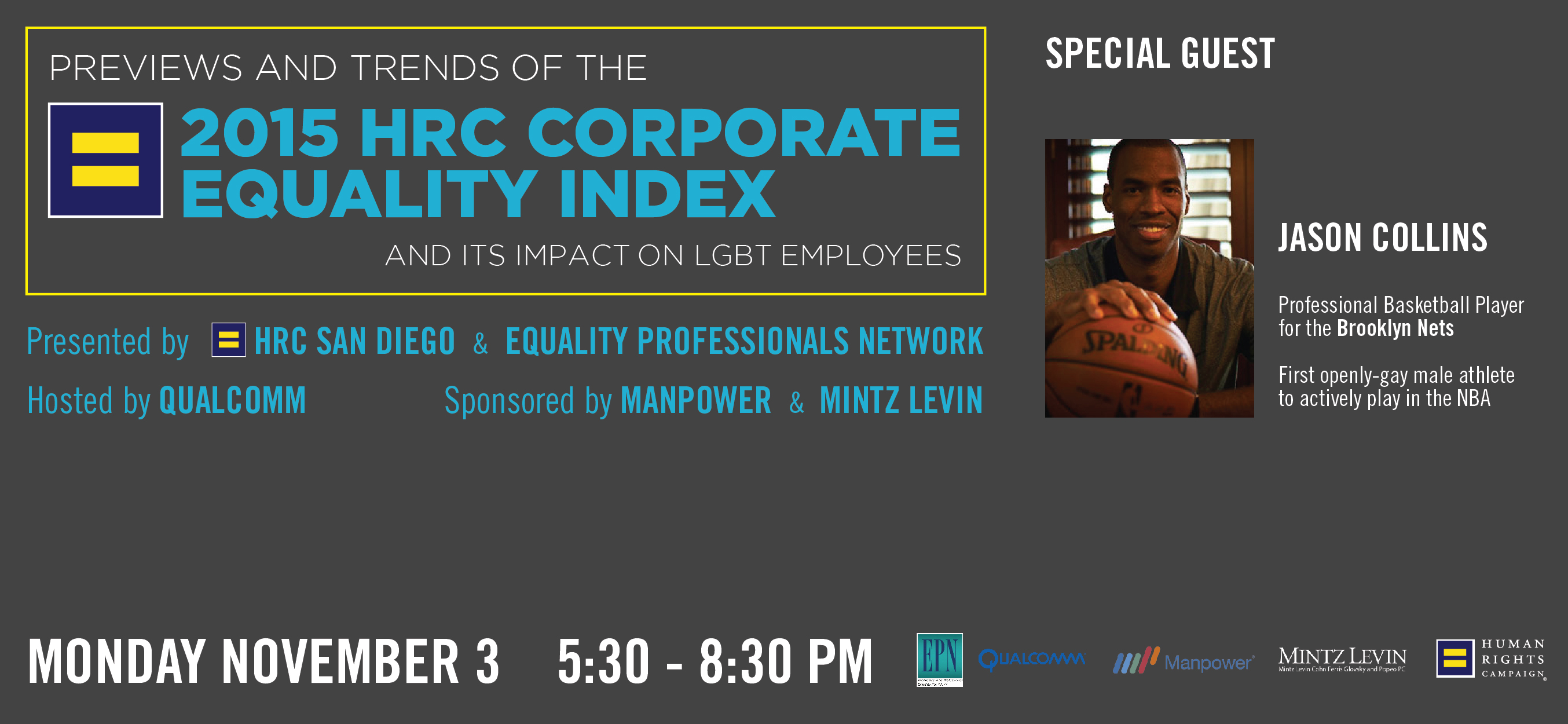 2015 Corporate Equality Index preview - Nov. 8 at Qualcomm