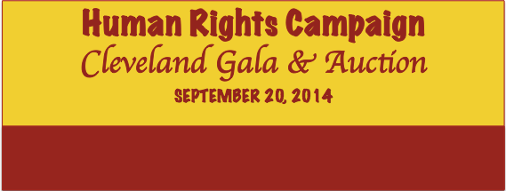 HRC Cleveland Gala September 20, 2014: Tickets on Sale NOW!