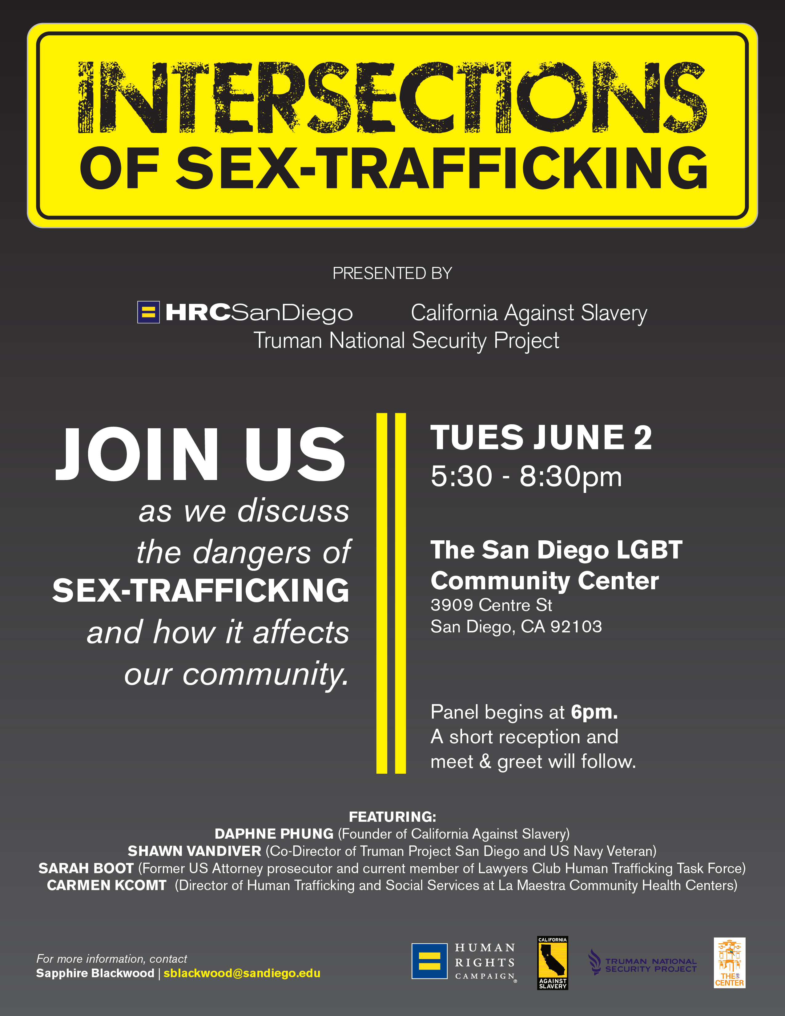 Intersections of Sex-Trafficking - Tuesday Jun 2