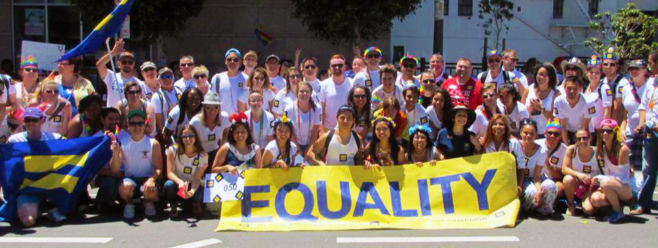 SF Bay Area Volunteers show their pride at San Francisco Pride 2014. Join our team! #WeAreHRC