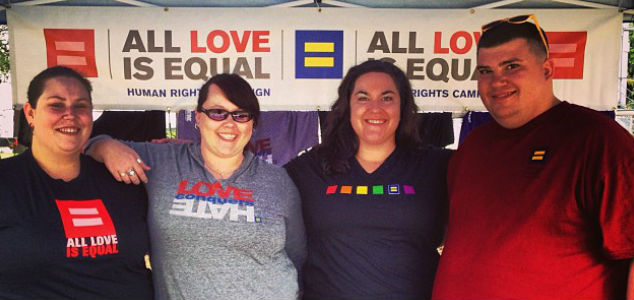 The HRC Nashville Committee rallying together for equality