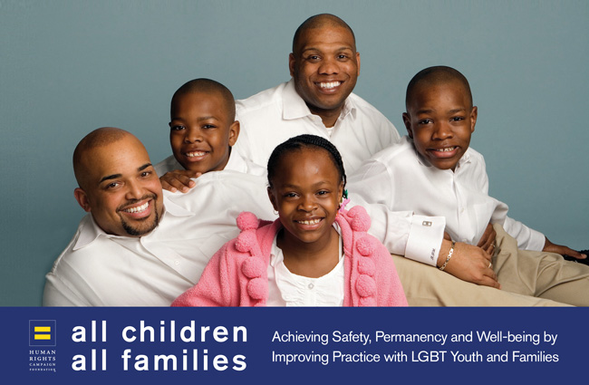 Same-sex couple with their children