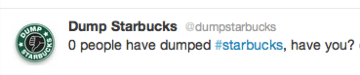 Dump Starbucks screencap