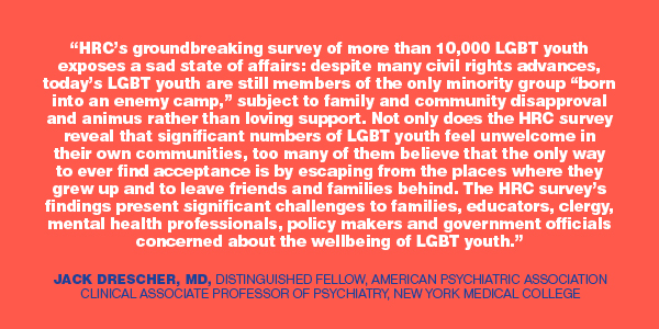 LGBT youth report; HRC;