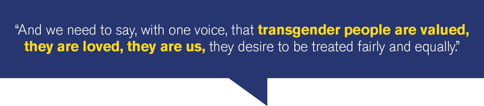 Hillary Clinton quote on transgender issues