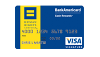 HRC Bank of America VISA card