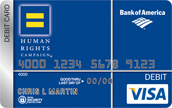HRC Bank of America Debit Card