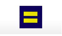 Equality symbol; HRC logo; Equality sticker