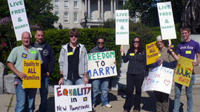 Rally for NH marriage