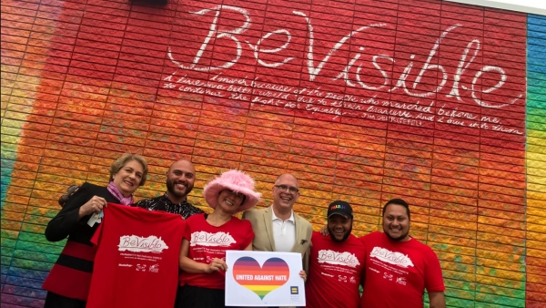 #BeVisibleHTX: Houston Gets a New Rainbow Pride Wall