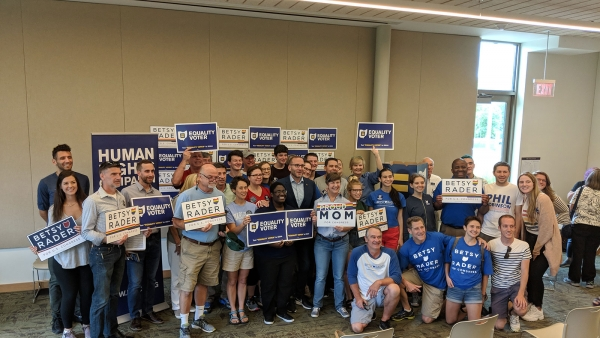 VIDEO: HRC President Chad Griffin and Volunteers Join Kickoff Event for Betsy Rader