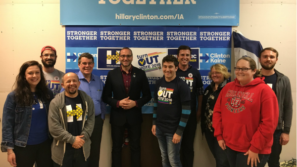 HRC President Chad Griffin and HRC Members #turnOUT the Vote in Iowa