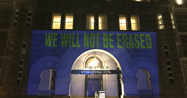 HRC Projects CDC's 'Banned Words' Onto Trump Hotel