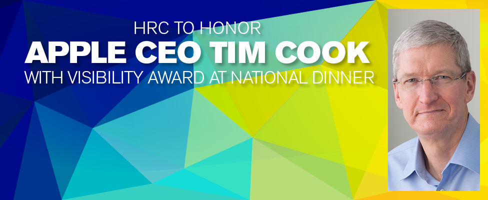 Tim Cook to be Honored