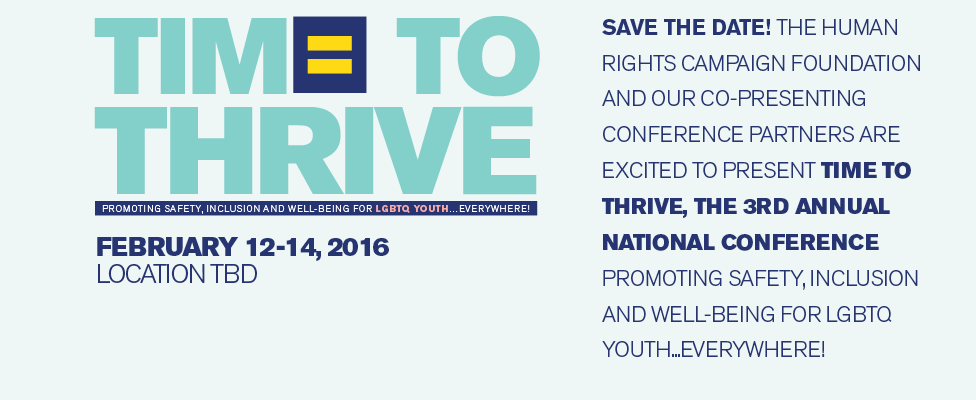 Save the Date for Time to THRIVE 2016