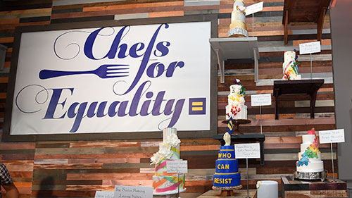HRC Chefs for Equality; Dock5 at Union Market; Cake Wall