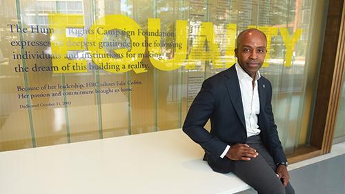Alphonso David at HRC HQ