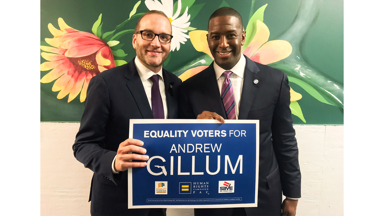 HRC, Equality Florida, and SAVE Endorse Andrew Gillum for Governor of Florida