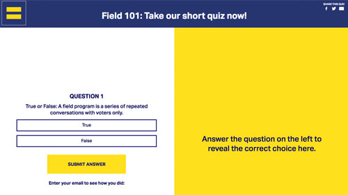 Equality Action Academy; quiz; Field 101