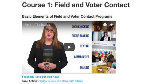 Equality Action Academy; Field and Voter Contact