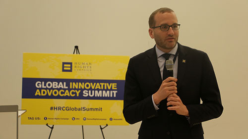 Global Innovative Advocacy Summit; HRC President Chad Griffin