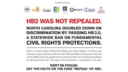HB2; North Carolina