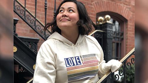 Love rainbow flag hoodie