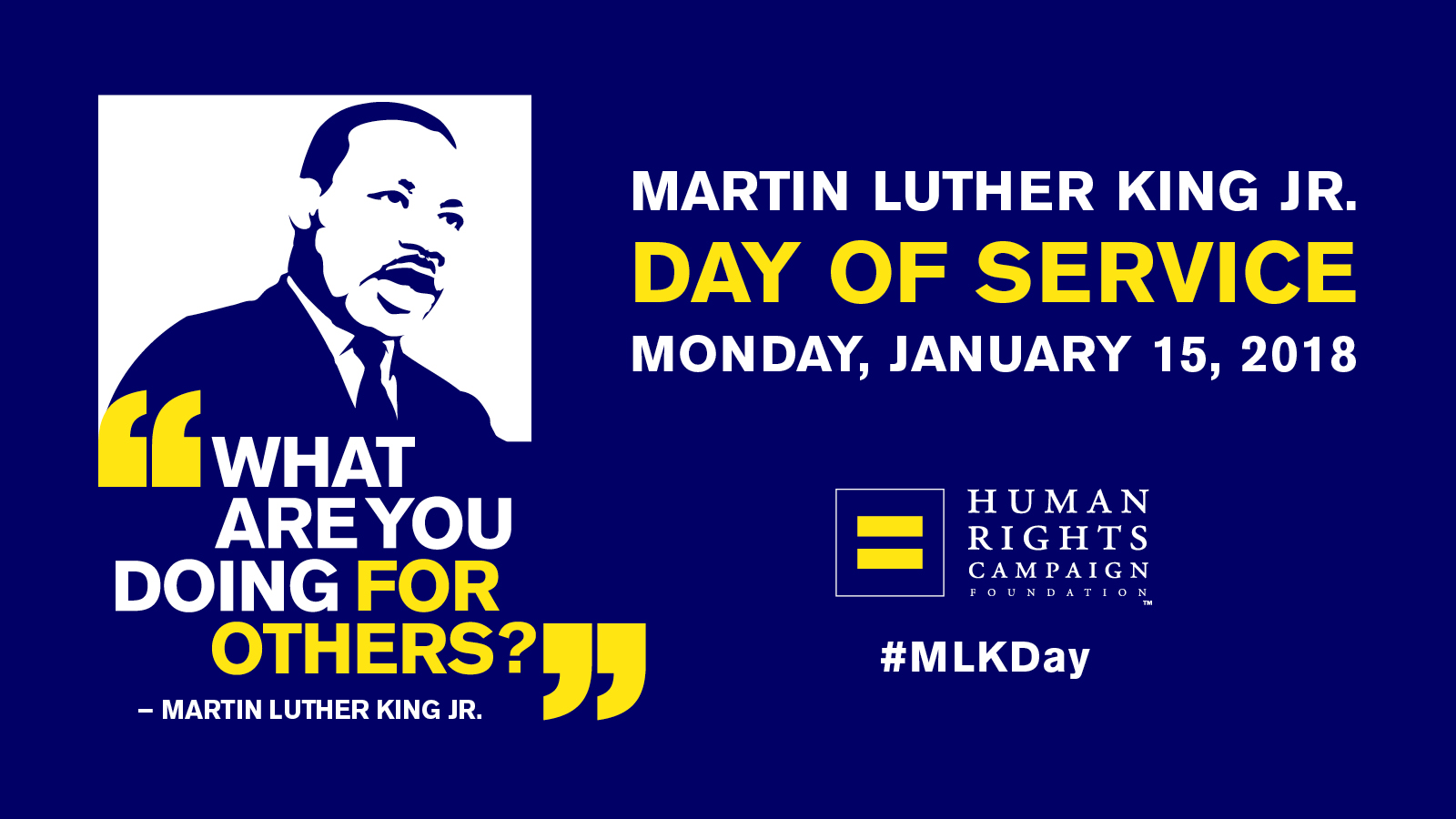 HRC to Hold More than 25 Community Service Events on Dr. Martin Luther King Jr. Day of Service