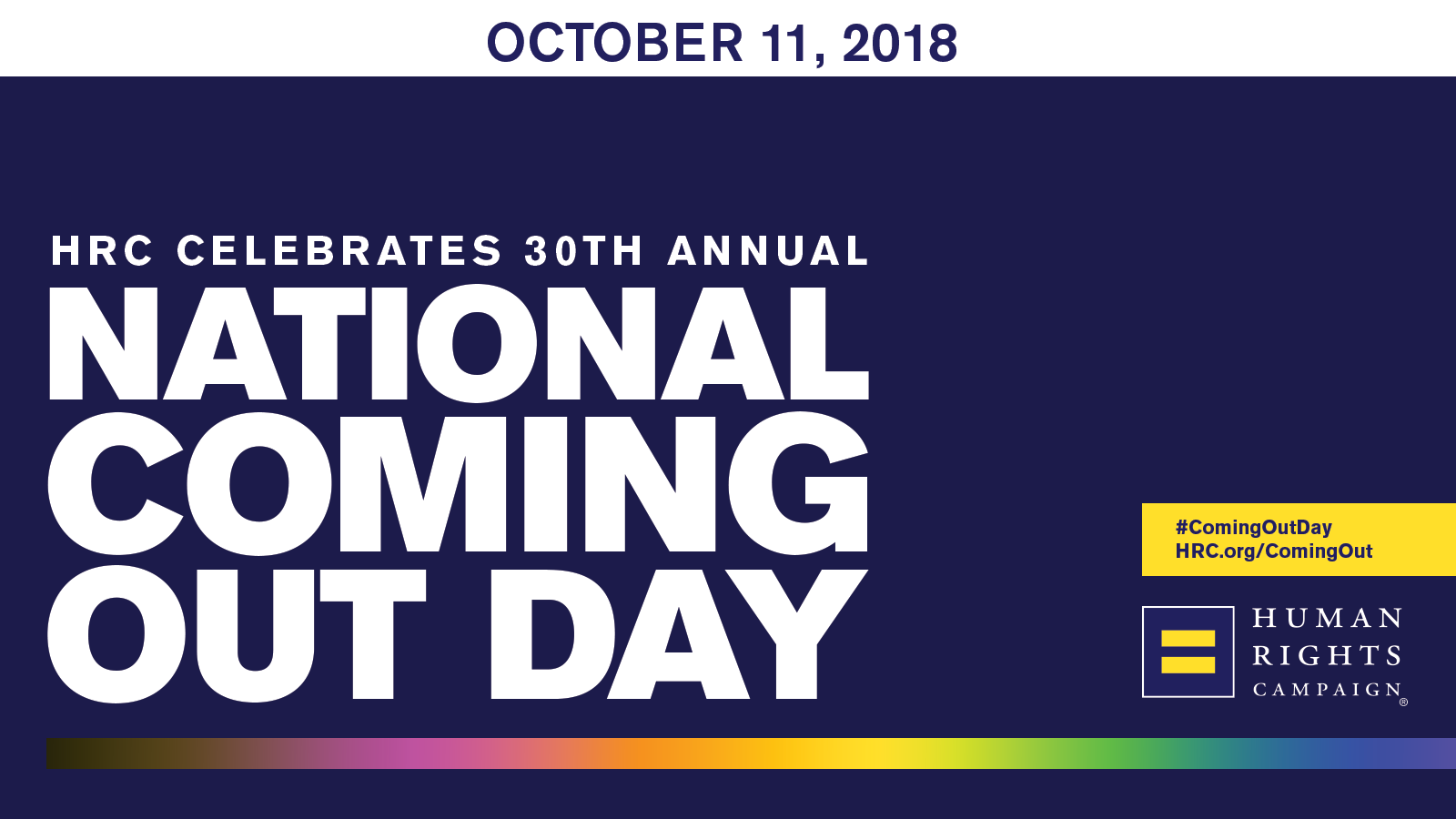 Hrc Celebrates Th Annual National Coming Out Day