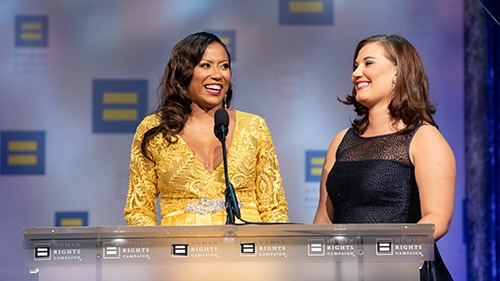 Rachael Gresson, Sherie Hughes, HRC National Dinner 2018, Bisexual