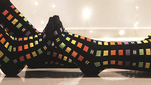 Rainbow block socks, shop, equality