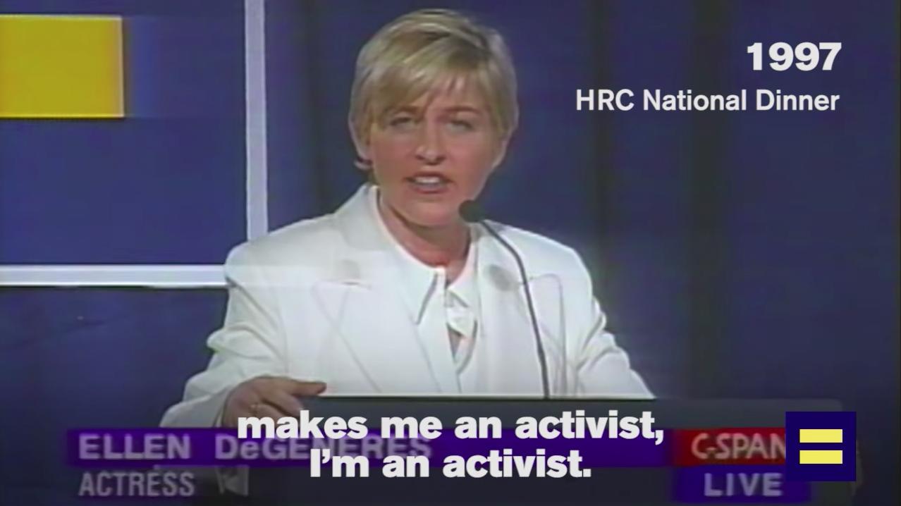 Image result for Ellen degeneres - I am an activist