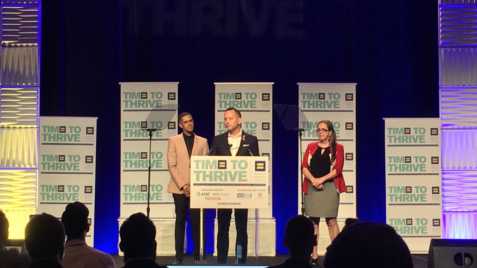 HRC honra a las víctimas de Pulse en la conferencia Time to THRIVE 2018